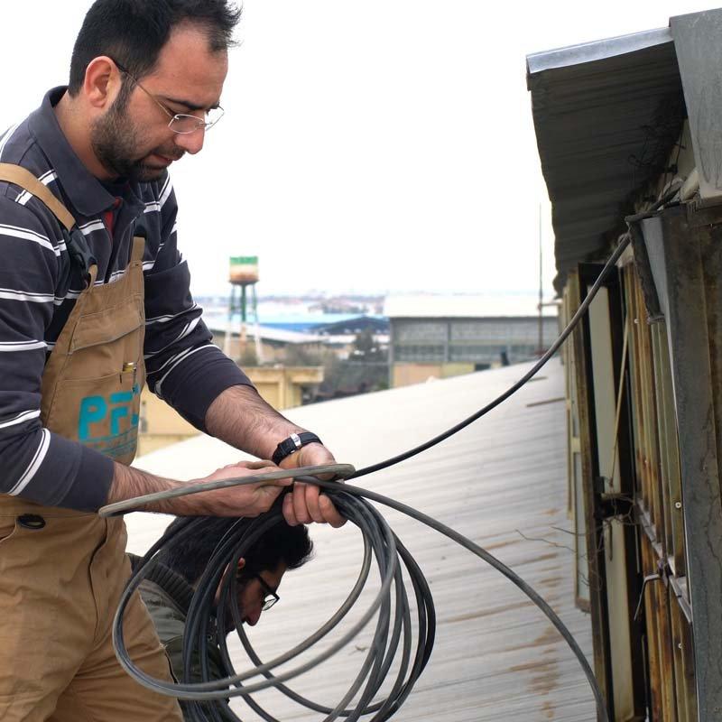 پروژه زیرساخت شبکه مجتمع فولاد بافق