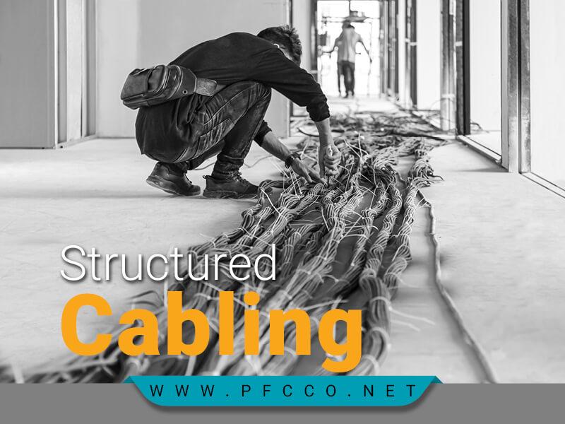 کابل کشی ساخت یافته با کابل های مسی و فیبر نوری