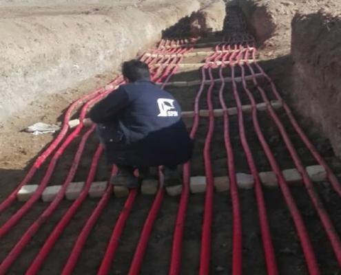 نحوه خواباندن کابل در زمین یا کابل کشی زمینی فشار
