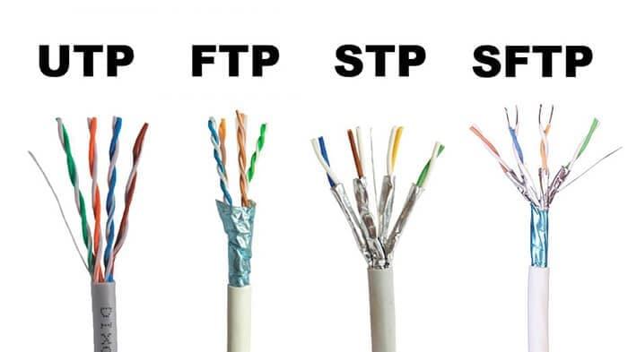 تفاوت کابل شبکه FTP و SFTP با UTP چیست؟