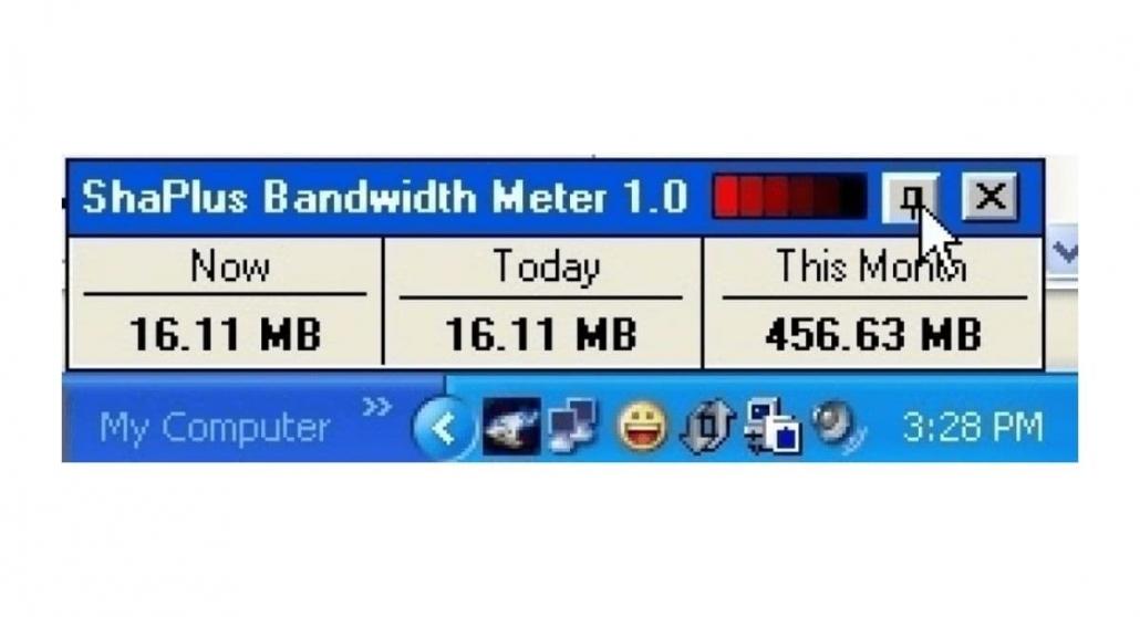 نرم افزار ShaPlus Bandwidth Meter