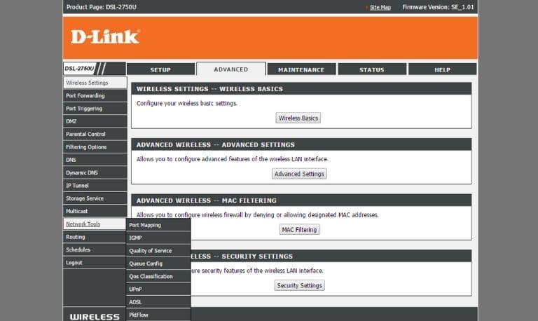 راهنمای تنظیم مودم ADSL دی لینک (D-Link) مخابرات