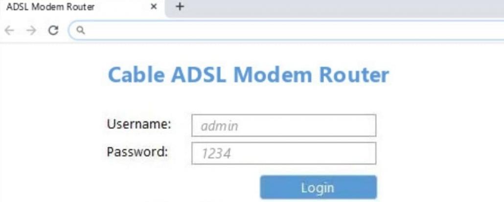 ورود به تنظیمات مودم ADSL