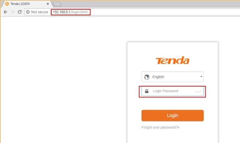 وارد شدن به تنظیمات مودم تندا Tenda